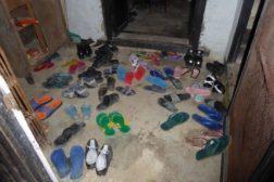 Gangen full av sko
