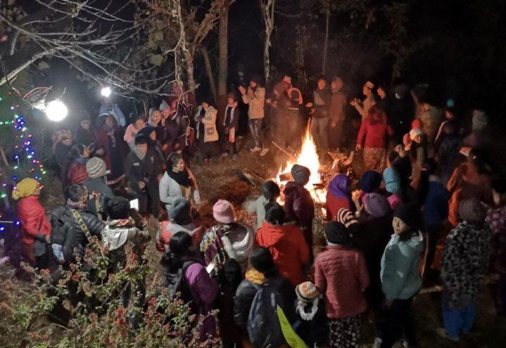 Fellesskaps-jul i Okhaldhunga